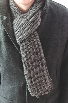 Ravelry: Simple Ribbed Knit Scarf pattern by Words & Whisks
