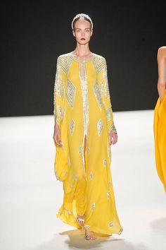Yellow gorgeousness at Naeem Khan