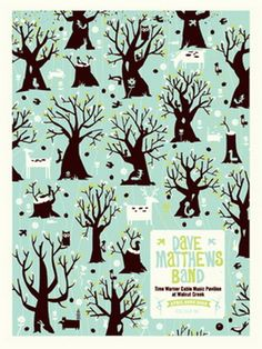 Dave Matthews Band Raleigh Concert Poster by Methane Studios - Methane Studios - DMB - Gallery