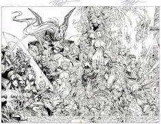 Soul Saga Wraparound Cover by Stephen Platt Comic Book Artists, Comic Books Art, Soul Saga, I'm Sick, Black White Art, Image Comics, Pen Art, To Color, Comic Book Covers