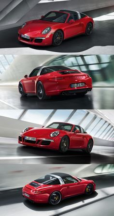 We've given the new 911 Targa 4 GTS everything that a sports car needs for captivating appeal: a powerful front, a broad rear, a sharpened design. And Carmine Red paintwork. #Porsche #TargaGTS *Combined fuel consumption in accordance with EU 5: 10-9,2 l/100 km, CO2 emissions 237-214 g/km.