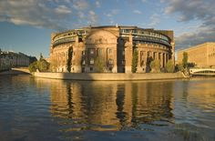 The round Parlament building in Stockholm, Sweden