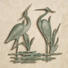 Heron Indoor Outdoor Metal Wall Art....for brick wall on back patio