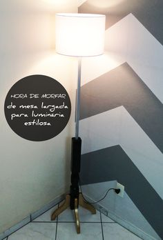 Luminária de Piso – Meu primeiro achado do lixo.