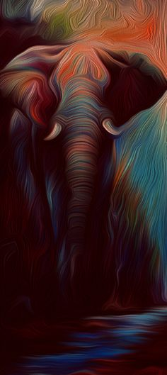 Beautiful watercolour elephant