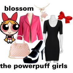 The powderpuff girls Cartoon Fashion, Cartoon Outfits, Disney Outfits, Cute Outfits, Casual Cosplay, Cosplay Outfits, Themed Outfits, Inspired Outfits, Power Puff Costume