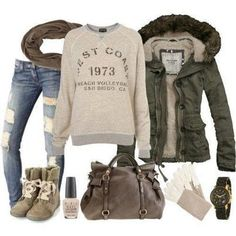 probably my favorite so far... I just love CASUAL wear. Everything in this pic is cute but oh so comfy and warm looking.