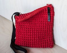 Red Cross Shoulder Crochet Purse