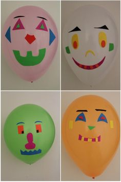 Balloon people - a kids game activity and craft. I see this as a self-portrait. This would be great when learning about different cultures and our differences from one another.
