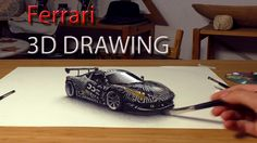 ferrari painted in 3D by Stefan Pabst