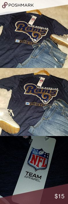NLF Rams shirt Blue  Los Angeles Rams shirt NFL team apparel Other