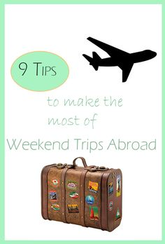 Planning on traveling while your abroad? Use these tips to make your weekend trips smoother, cheaper, and more fun! Good to know for all students abroad