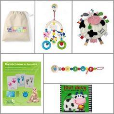 Coffret cadeau naissance - ZAZOPACK+ TIWA FERME 0-3m+ Maxi - 82.00€   -  Livre+Jouets+Pack créatif :  Découverte, Eveil avec en plus un petit souvenir pour les parents