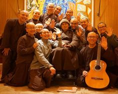 Thay arrived safely at Bergerac airport in France this afternoon (Friday 8th January 2016), and returned to his hermitage in Plum Village, to a warm welcome of songs and smiles from his monastic disciples.Via PlumVillage.org