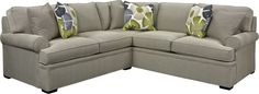 Jessie Sectional   Sturdy, square bun feet. Sock arms. Loose Pillows. Fun, transitional look. Jessie is a popular name, and the Jessie Sectional is a popular part of the Thomasville Furniture family. Mix the pieces to suit your room and your lifestyle. Your choice.