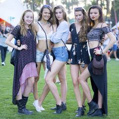 A stylish pack of crop tops, cutoffs, breezy separates, and festival essentials, like bandannas and fringe bags.