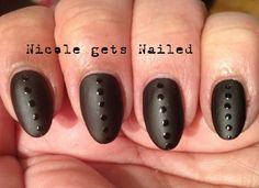 Count Dot-Cula - Black Matte Polka Dots #nails #nailart #halloween