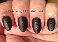 Count Dot-Cula - Black Matte Polka Dots #nails #nailart #halloween