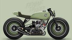 Volkswagen Beetle Cafe Racer design - Femme Devries #motorcycles #caferacer #motos caferacerpasion.com