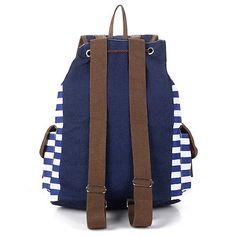 Raya estilo retro de Lona Mochila Escolar Bolsa ruchsack Estudiante College Laptop Bags