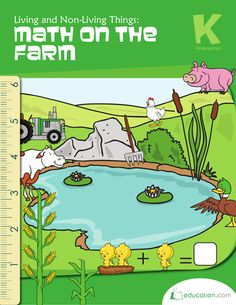 Living and Non-Living Things: Math on the Farm | Printable Workbook | Education.com