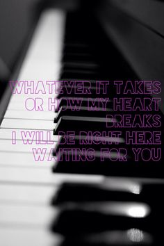 Whatever it takes, Or how my heart breaks, I will be Right Here Waiting for you. - Richard Marx