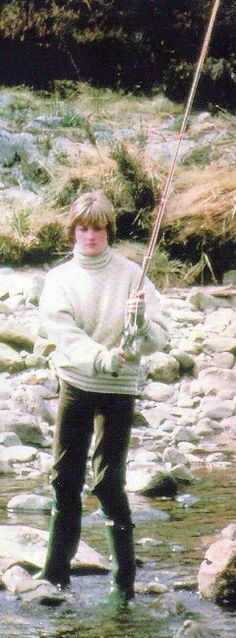 May 5, 1981: Lady Diana Spencer salmon fishing on the River Dee at Queen Elizabeth's estate near Balmoral Castle in Scotland.