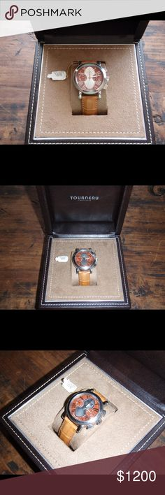 Tourneau Gotham Aztec Ltd Edition Chrono Watch Purchased as Certified Pre-Owned from Tourneau in Cabazon, CA Worn once after purchase Original price: $4950.00 Tourneau leather case   Case: 41mm Country of Manufacture: Switzerland Automatic Movement Stainless Steel Case Rose Gold Face Leather Band with deployment clasp                                Not trading at this time. Tourneau Accessories Watches