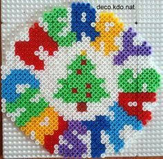 Merry Christmas hama perler beads by Deco.Kdo.Nat