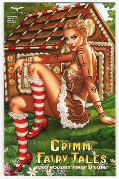$5.99 Grimm Fairy Tales Holiday Pinup Special #1 Cvr B Santacruz (Zenescope, 2020) NM Sold By: Imagine That! Comics For the first time ever, and just in time for the holidays, comes the Grimm Fairy Tales 2020 Holiday Special! Get ready to check out all of your favorite Grimm Universe heroines and villainesses, both naughty and nice, representing all of that yuletide cheer! Some of the industry's top artists contribute gorgeous pin-ups of the Grimm Universes' most popular female Grimm Fairy Tales, Red Sonja, Female Characters, Fictional Characters, Vintage Games, Comic Character, Top Artists, Short Stories, Pin Up