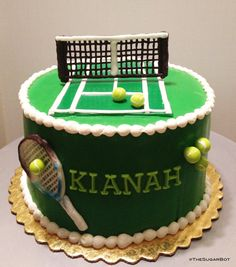 Tennis cake set by TheSugarBot on Etsy, $25.00