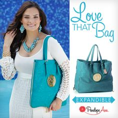 LOVE THAT BAG - TEAL is the only handbag you need this season! Expand as you shop or travel.  Animal friendly leather with Penelope Ann logo peony medallion. Zippered pocket, magnetic closure and a key fob.