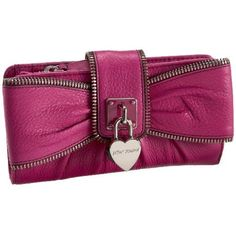 Betsey Johnson Heart Of Gold Checkbook Wallet: Shoes