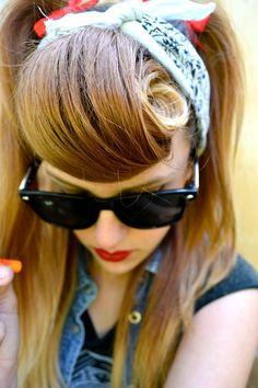 pin curl   Tumblr Karmin suicide bun