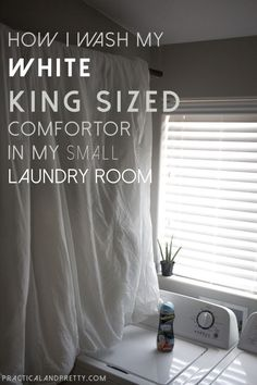 Easy Way To Wash A King Size Comforter At Home Cleaning Tricks