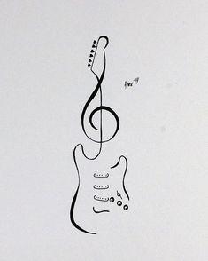 Tattoo Flash Stratocaster Guitar by AprilsInk on DeviantArt Tattoo Flash - Stratocaster Guitar by AprilsInk diy tattoo images - tattoo images drawings - tattoo Music Tattoo Designs, Music Tattoos, Body Art Tattoos, Love Music Tattoo, Guitar Tattoo Design, Nature Tattoos, Guitar Drawing, Guitar Art, Guitar Sketch