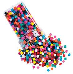 Learning Resources Centimeter Cubes, Assorted Colors, Set of 1000