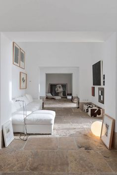 10 Beautiful Rooms - Mad About The House... All white walls + wide openings