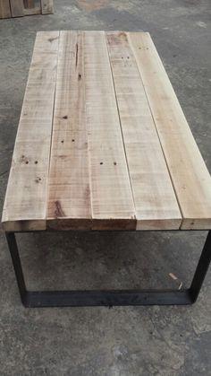 Mesa tablones Diy Furniture, Ideas Para, Tables, Home Decor, Chair, Garden, Plank Table, Mesas, Home