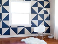 Removable Triangle Wall Decals by MUR in main interior design home furnishings art Category Wall Design, House Design, Nursery Design, Triangle Wall, Triangle Pattern, Wall Patterns, Modern Patterns, Trendy Home, Home And Deco