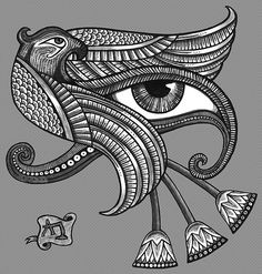 egypt tattoos and symbols and meanings | work.6910818.1.flat,550x550,075,f.eye-of-horus-tattoo-style-print