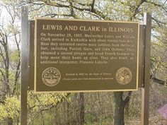 Fort Kaskaskia, Illinois - Lewis and Clark Trail . Clinton Illinois, Lewis And Clark Trail, Clinton County, Southern Illinois, Columbia River, Rivers, Day Trips, Sd, History
