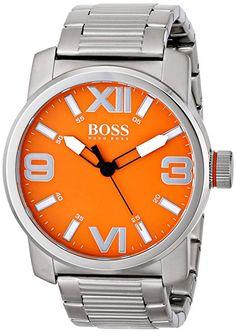 BOSS Orange Men's 1512982 Dubai Analog Display Quartz Silver Watch Boss Orange, Casio Watch, Hugo Boss, Omega Watch, Dubai, Quartz, Display, Watches, Silver