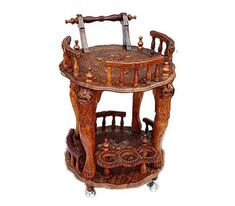 "We are ""Aarsun""– India's brand-in Premium & Royal Handicrafts Wood Furniture with an experience of more than 30 years in handcrafted furniture. Serving Trolley, Kitchen Trolley, Wood Furniture, Handmade, Home Decor, Kitchen Storage Trolley, Timber Furniture, Hand Made, Decoration Home"