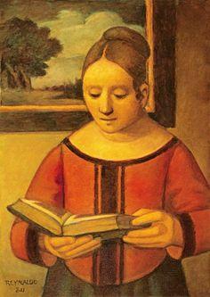 A leitora, 2011 Reynaldo Fonseca (Brasil, 1925) óleo sobre tela, 46 x 38 cm