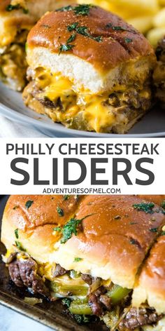 How to make the best Philly cheesesteak sliders on Hawaiian Rolls brushed with garlic butter and baked in the oven. Easy recipe perfect for a Game Day crowd, holiday guests, party food, and more. Makes a great homemade appetizer or dinner dish. Best Philly Cheesesteak, Philly Cheese Steak Sliders, Cheesesteak Recipe, Philly Cheesesteaks, Lunch Recipes, Beef Recipes, Appetizer Recipes, Cooking Recipes, Appetizers