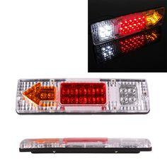 1 pair 19 LED 24V Tail Light Car Truck Trailer Stop Rear Reverse Turn Indicator Lamp back up led lights turn signal lamp