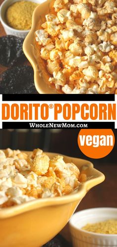 Popcorn really is the perfect snack. Have you tried Dorito flavor popcorn? Like Doritos but don't like the chemical topping? Try this Dorito popcorn recipe - like eating Doritos, but without the chemicals! It's dairy-free and vegan too! Yummy Healthy Snacks, Healthy Meals For Kids, Easy Snacks, Healthy Eating, Healthy Recipes, Real Food Recipes, Vegetarian Recipes, Doritos, Food Allergies