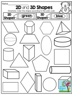 Printable Shapes 2D and 3D great resource for printable