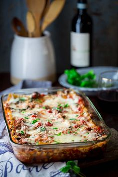 Healthy Beef Lasagna with Spinach and Basil | Gluten Free | Kid Friendly | Main Course | Dinner | Healthy Seasonal Recipes | Katie Webster